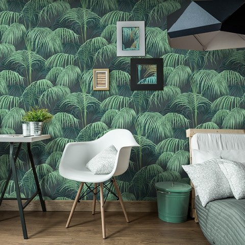 papier peint tropical jungle. Black Bedroom Furniture Sets. Home Design Ideas